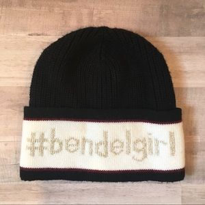 Henri Bendel Black Beanie
